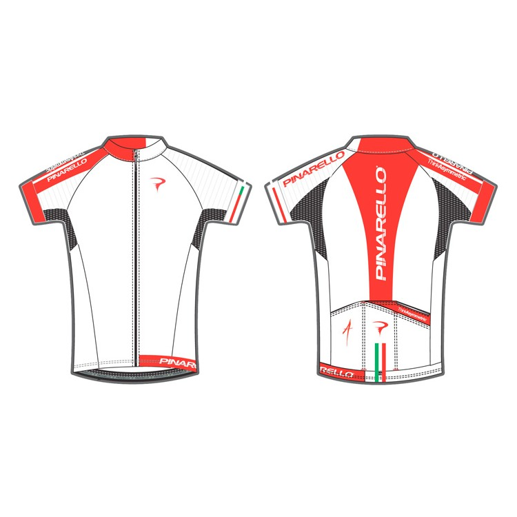 PINARELLO ピナレロ サイクルジャージ 半袖 メンズ Corsa - PISTA フルジップジャージ White サイクルウェア