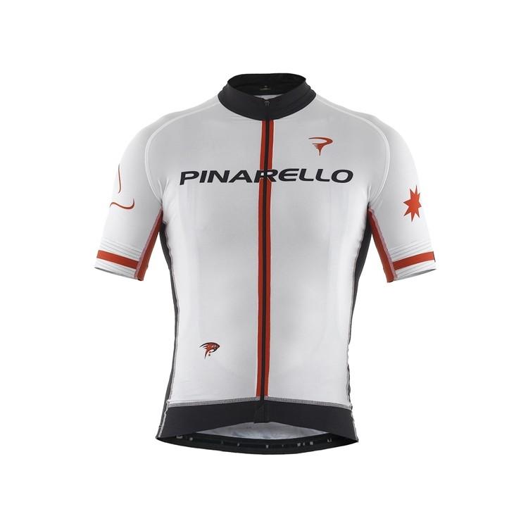 PINARELLO ピナレロ サイクルジャージ 半袖 メンズ FRC STARS フルジップジャージ ピナホワイト サイクルウェア