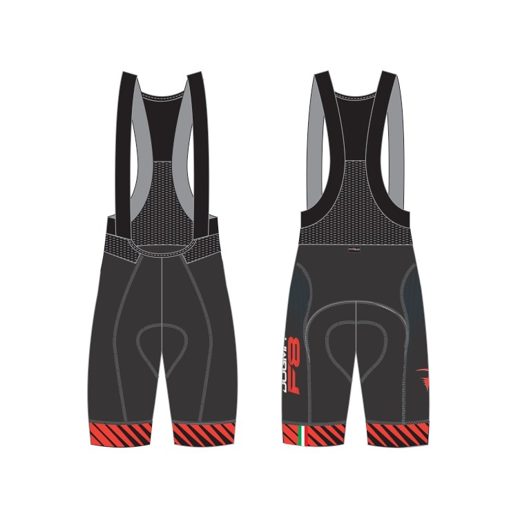 (PINARELLO/ピナレロ)(自転車用ウェア/男性用/メンズ)FRC F8 ビブパンツ ブラック/レッド