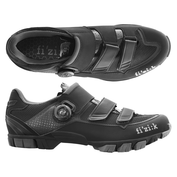 (fizik/フィジーク)(自転車用シューズ/靴用品)M6B UOMO(メンズ)BOA MTBシューズ BK/グレー 43.5 サイクリングシューズ 自転車 ロードバイク シューズ サイクルシューズ サイクリング