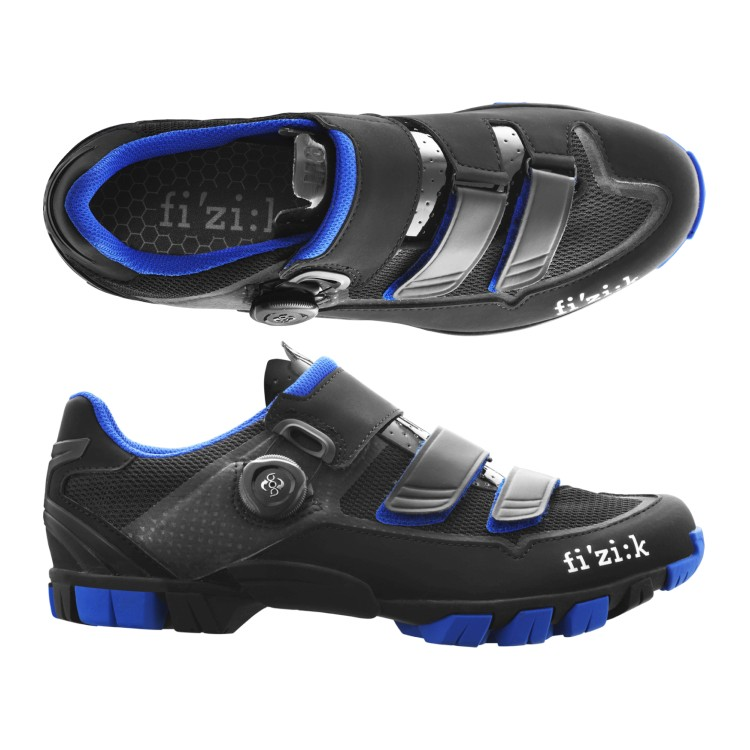(fizik/フィジーク)(自転車用シューズ/靴用品)M6B UOMO(メンズ)BOA MTBシューズ BK/ブルー 39.5 サイクリングシューズ 自転車 ロードバイク シューズ サイクルシューズ サイクリング