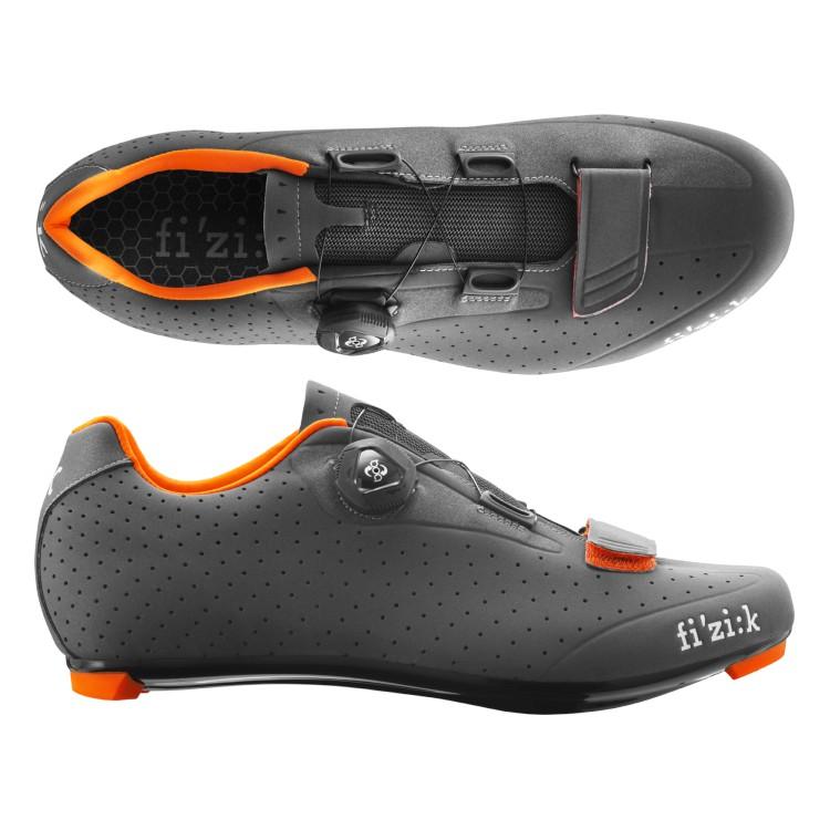 (fizik/フィジーク)(自転車用シューズ/靴用品)R5B UOMO(メンズ)BOA グレー/オレンジ 39 サイクリングシューズ 自転車 ロードバイク シューズ サイクルシューズ サイクリング