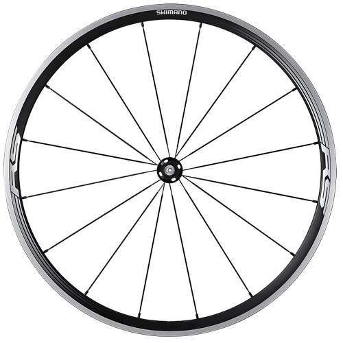 SHIMANO シマノ ホイール 自転車用 WH-RS330 フロント ブラック 自転車 サイクリング ロードバイク 自転車用パーツ サイクルパーツ