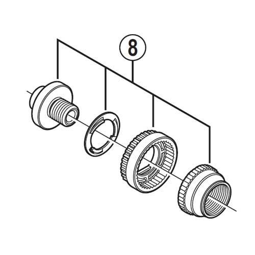 (SHIMANO/シマノ)(自転車用ホイール関連)WH-6800-R 左ロックボルトユニット