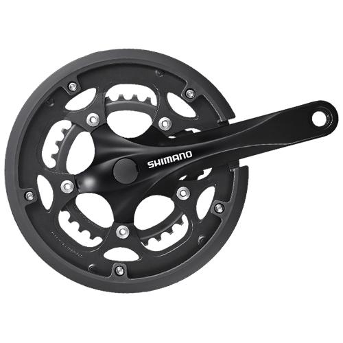 SHIMANO シマノ クランクセット 自転車用 FC-RS200 50X34T 170mm 8S チェーンガード付 対応BB 四角軸UN 110mm (MM110) コンポーネント 自転車 サイクリング 自転車用パーツ サイクルパーツ