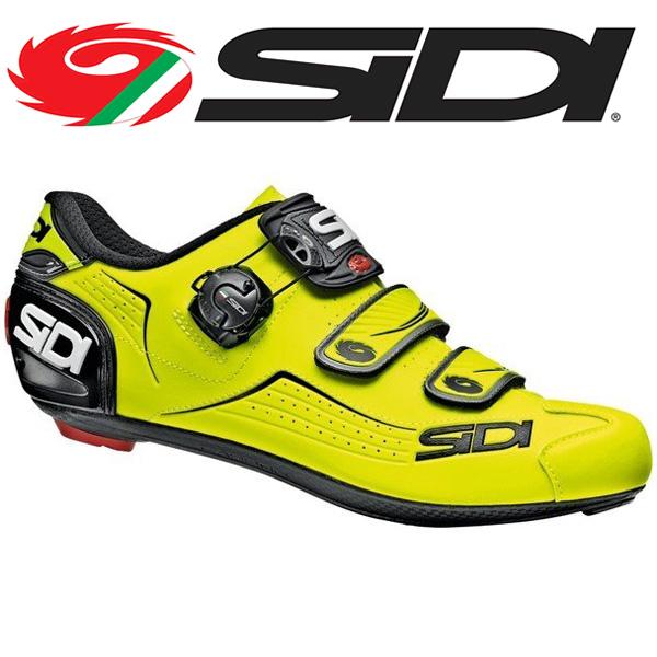 SIDI シディ ALBA YEL-Fluo/BLK 自転車 シューズ ビンディングシューズ メンズ