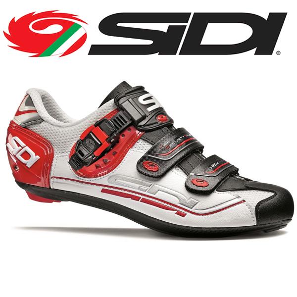 SIDI シディ シューズ ビンディングシューズ GENIUS 7 WHT/BLK/RED ジニアス 7 サイクルシューズ