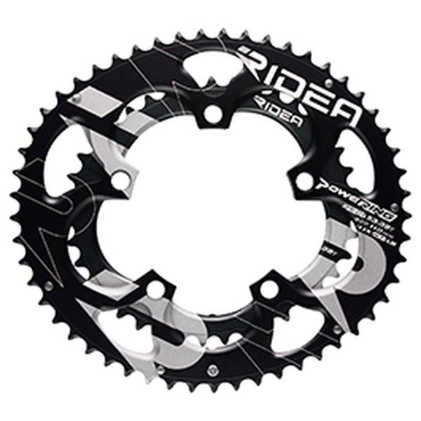 (RIDEA/リデア)(自転車用チェーンリング)ROAD POWER RING SEMI-FULL PLATE 130 / 5アーム 53/40T