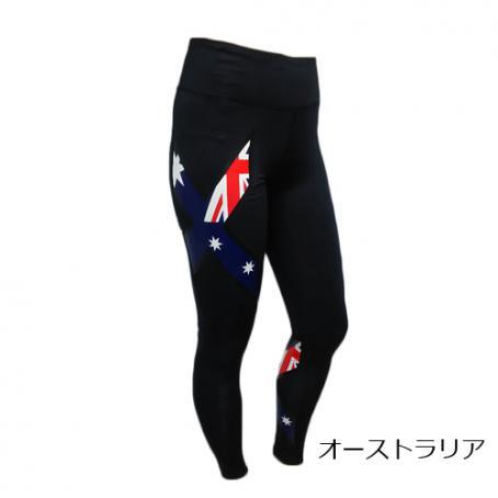 (2XU/ツータイムズユー)(自転車用ウェア/女性/レディース)ミッドライズコンプレッションタイツ オリンピック限定モデル(オーストラリア)(WA2864b)