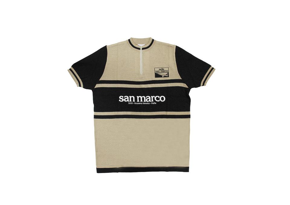SELLE SAN MARCO セラサンマルコ サイクルジャージ メンズ 半袖 SANMARCO WOOL JERSEY BROWN LANA003 ロードバイクウェア