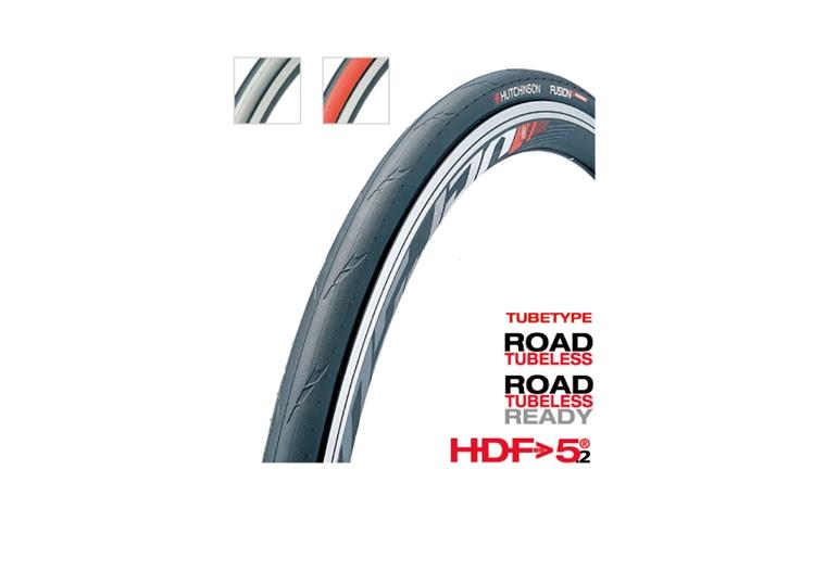 (HUTCHINSON/ハッチンソン)ロードバイクタイヤ FUSION 5 PERFORMANCE チューブレス(フュージョン5 パフォーマンス BLK 700x25)(PV526011)
