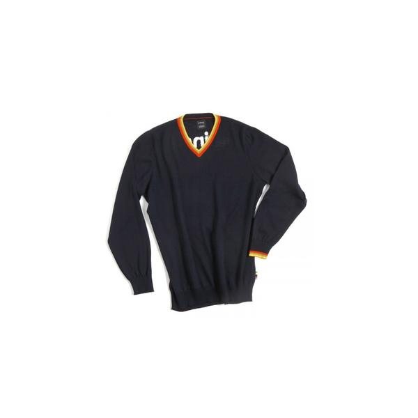 (cinelli/チネリ)CINELLI × DEMARCHI WOOL SWEATER ITALO'79 (チネリ × デマルキ ウールVネックセーター イタロ'79)