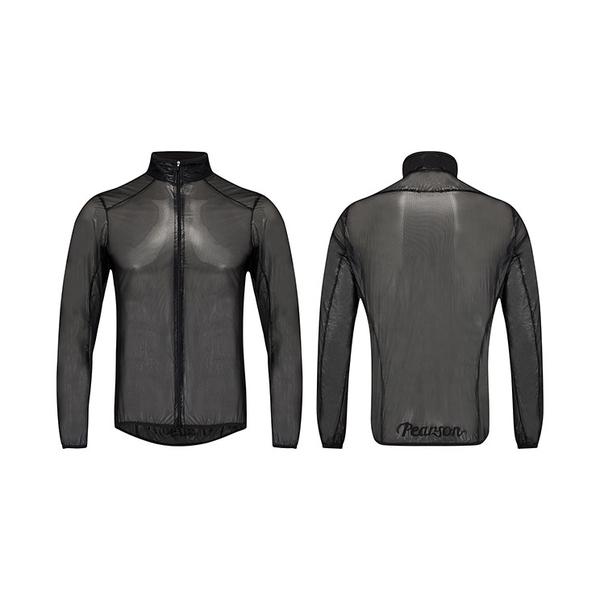 (Pearson/ピアソン)See It Through Black Jacket ジャケット ウインドブレーカー アウター ウェア サイクリングウェア サイクルウェア ロードバイクウェア ユニセックス 男女兼用 長袖