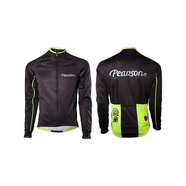 (Pearson/ピアソン)Reflex Jacket Black/Yellow ジャケット ウインドブレーカー アウター ウェア サイクリングウェア サイクルウェア ロードバイクウェア ユニセックス 男女兼用 長袖