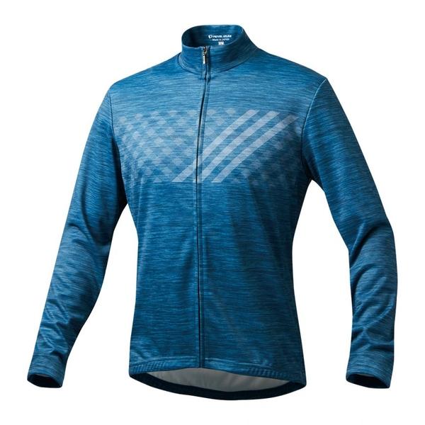 (PEARLiZUMi/パールイズミ)シティライド ウォーム プリント ジャージ (9334-BL) シェパード ウェア サイクルジャージ サイクリングジャージ サイクリングウェア サイクルウェア ロードバイクウェア メンズ 長袖