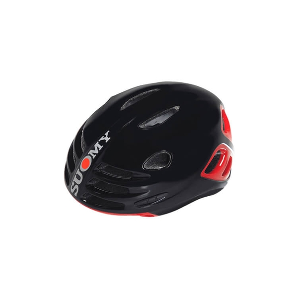 (SUOMY/スオーミー)ROAD SFERA BLACK GLOSSY/RED GLOSSY (C1SF0006)