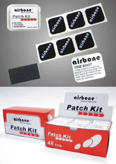 Airbone パンク修理キット 1BOX(48個入り)販売 ( パンク修理用チューブパッチ ) エアボーン Patch Kit AIR BONE