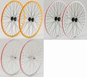 【取り寄せ商品】 DIA-COMPE GRAN COMPE WHEEL 前後輪セット カラー:シルバー、ゴールド、ホワイト ダイアコンペ グランコンペ シングルスピード&トラック用完組ホイール ピスト