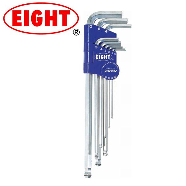 EIGHT エイト 工具 自転車 ボルトキャッチ ヘキサレンチ 9 EXロング インチサイズ 9本組 BCT メンテナンスツール