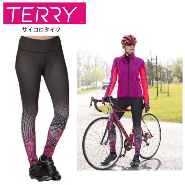 Terry テリー タイツ レディース サイコロタイツ#616077 BK Pollen Violet M サイクルウェア 自転車 ロードバイク Terry テリー タイツ レディース サイコロタイツ#616077 BK Pollen Violet M サイクルウェア 自転車 ロードバイク