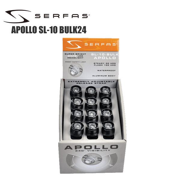 SERFAS サーファス フロントライト アポロ SL-10 BULK24 24個入 ライト 乾電池式 ロードバイク 自転車 サイクルパーツ