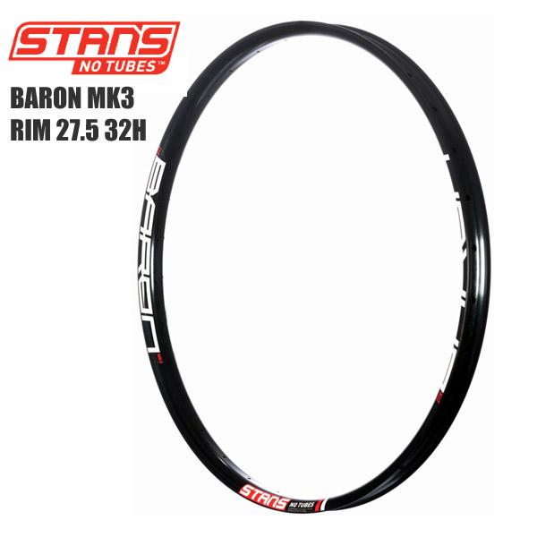 Stans NoTubes スタンズノーチューブ リム BARON MK3 RIM 27.5 32H サイクルパーツ 自転車