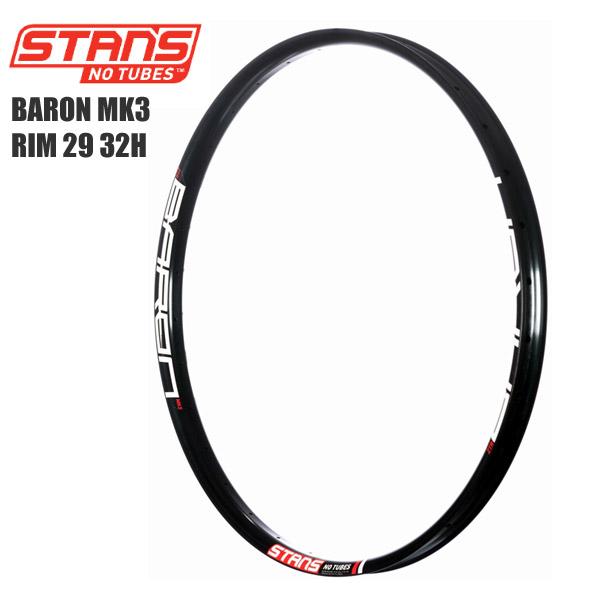 Stans NoTubes スタンズノーチューブ リム BARON MK3 RIM 29 32H サイクルパーツ 自転車