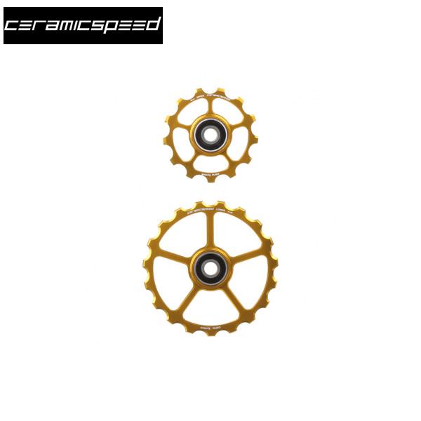 CERAMICSPEED セラミックスピード OverSizedプーリー用スペアプーリーキット 1P 13/19T ゴールド 【プーリー単体×2個】 ロード バイク プーリー 自転車