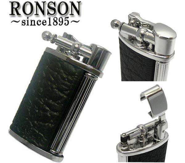 送料無料!RONSON(ロンソン)ClassicガスライターR23-0004牛本革巻き黒(真鍮 日本製)☆おまけメンテブラシ付き!(配送)小型宅配便,メール便はさらに割引き。(TK210)