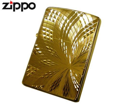 送料無料!新品正規品 純金K24仕上げ花乱両面柄(ユニットゴールド)ZIPPOジッポライター☆おまけメンテブラシ付き!(配送)小型宅配便,メール便はさらに割引き。(TK140)