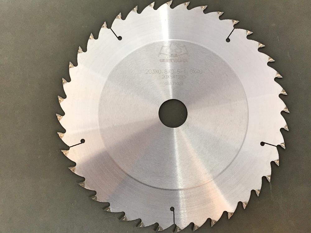 スギヤマ チップソー 203×0.8×(0.5-1.0)×40P段付き組子用
