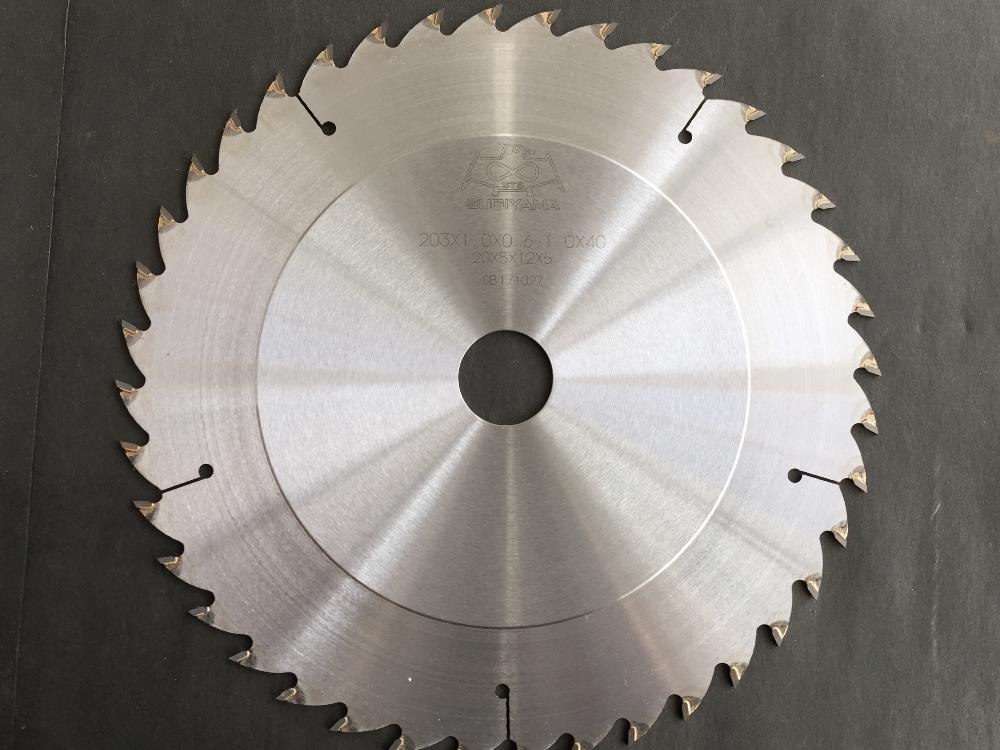 スギヤマ チップソー 203×1.0×(0.6-1.0)×50P段付き組子用
