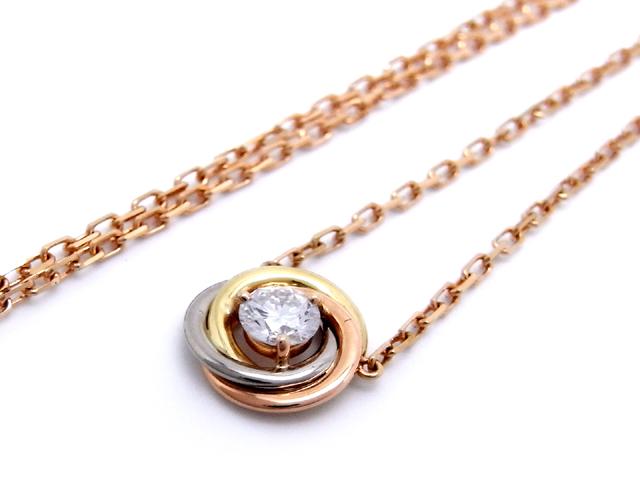 1b110eb2aa3f15 Cartier Cartier / trinity do Cartier diamond necklace three color gold  B7224900 ...