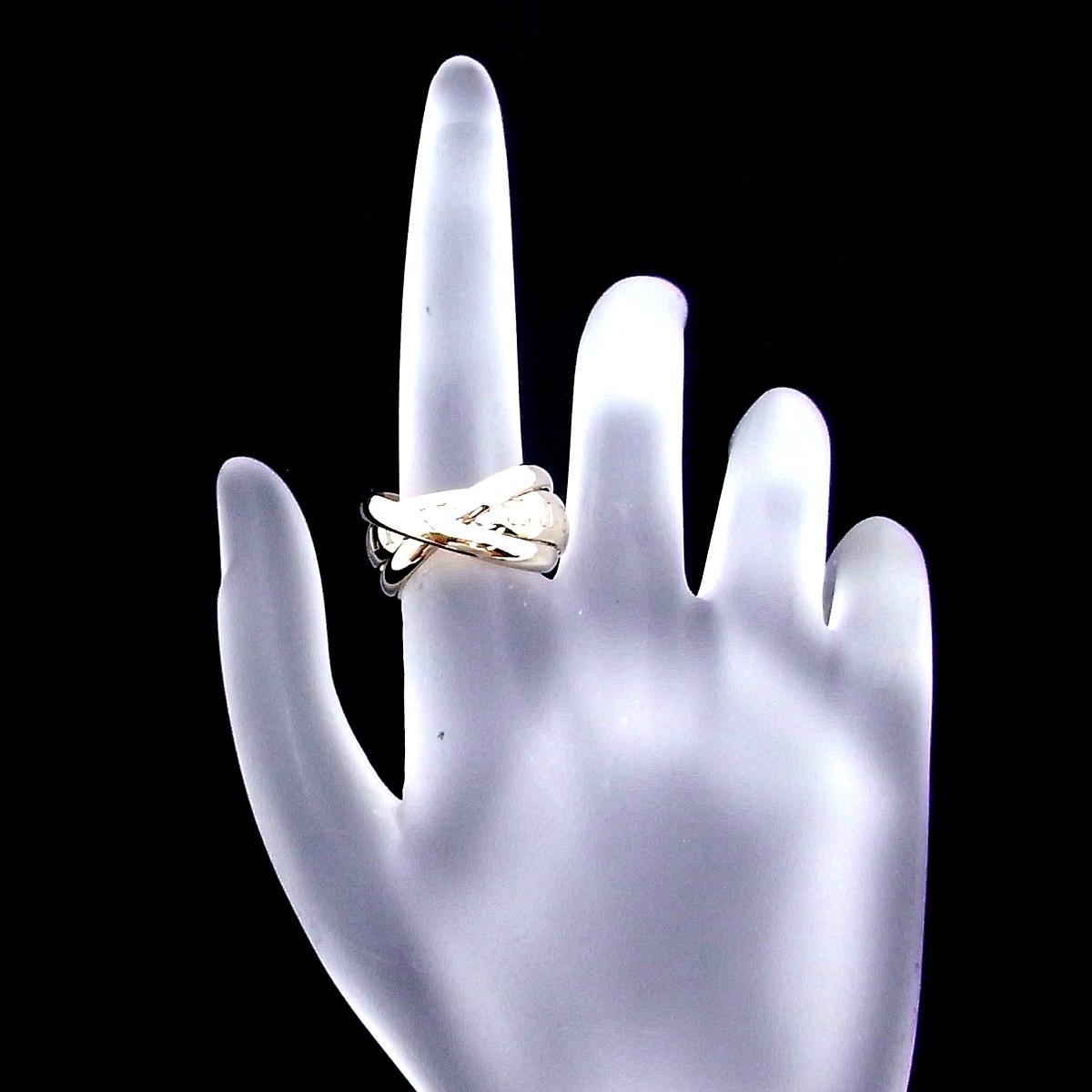 銀座店 Cartier カルティエ トリニティ ドゥ カルティエ リング 指輪51 750 WG ホワイトゴールド 1998年 クリスマス X'mas DH44352 大黒屋質店出品ikZOPXuT