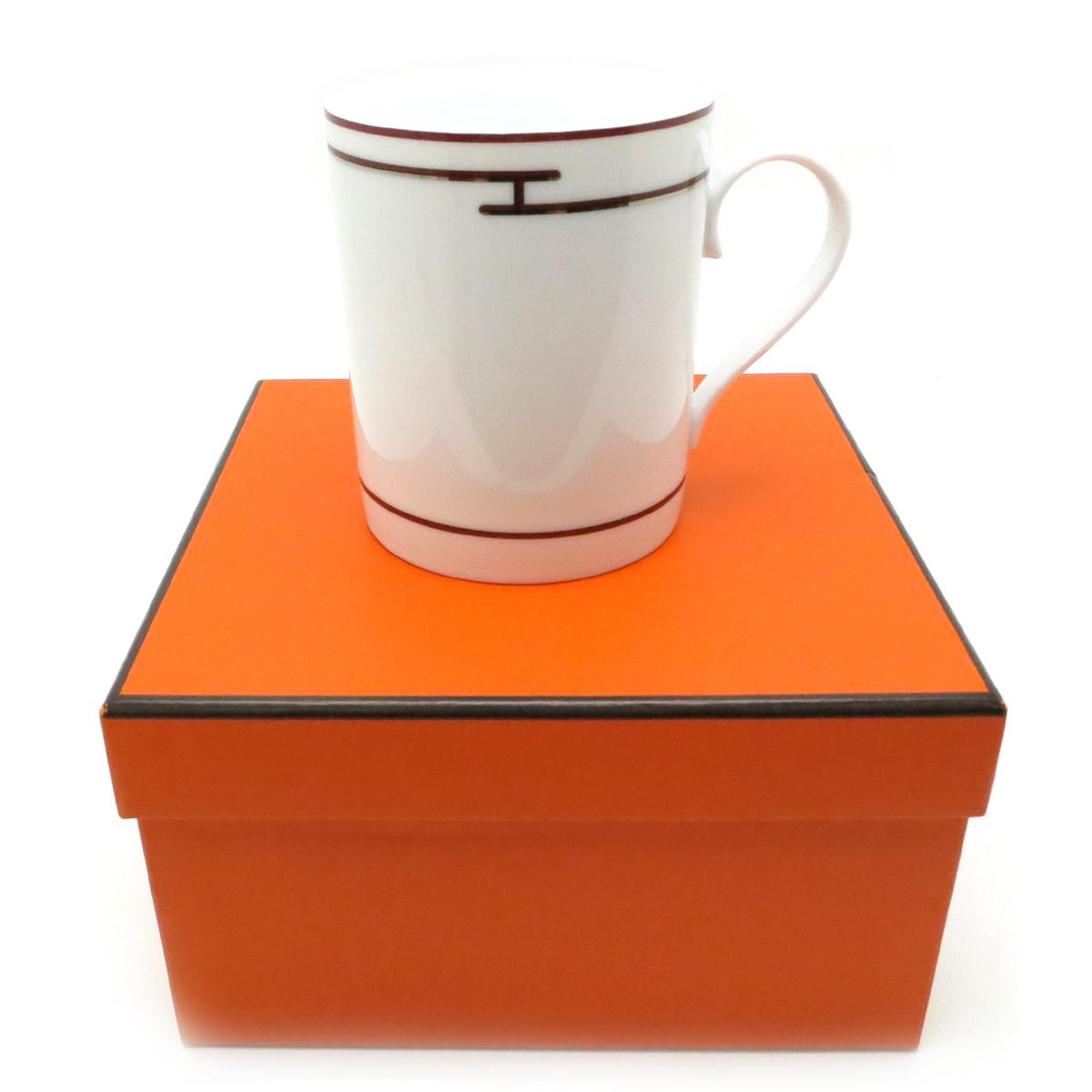 [飯能本店] HERMES エルメス リズムマグカップ マグカップ ホワイト ユニセックス DH49265【大黒屋質店出品】 【中古】【送料無料】【店頭受取対応商品】