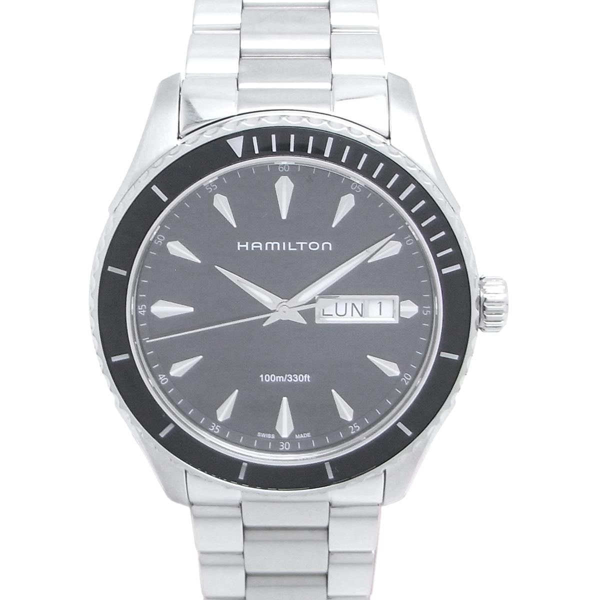 【飯能本店】 ハミルトン ジャズマスター メンズ 腕時計 ステンレススチール ブラック文字盤 DH49696【大黒屋質店出品】 【中古】【店頭受取対応商品】