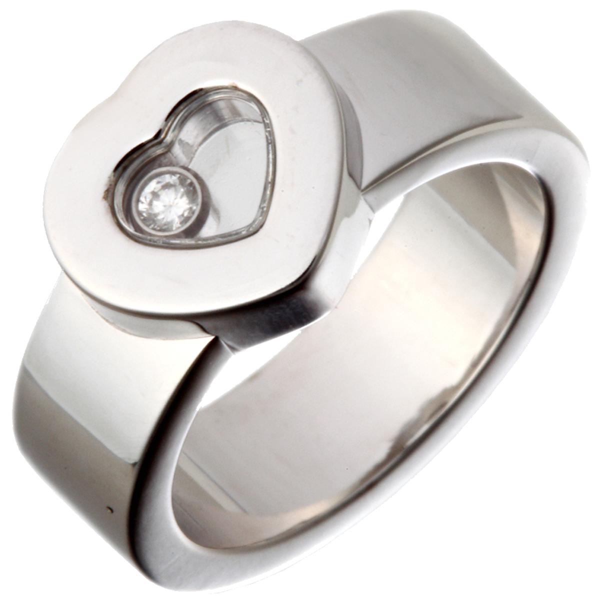 [飯能本店] Chopard ショパール ハッピーダイヤモンド リング・指輪 750ホワイトゴールド 9.5号 DH49627【大黒屋質店出品】 【中古】【店頭受取対応商品】