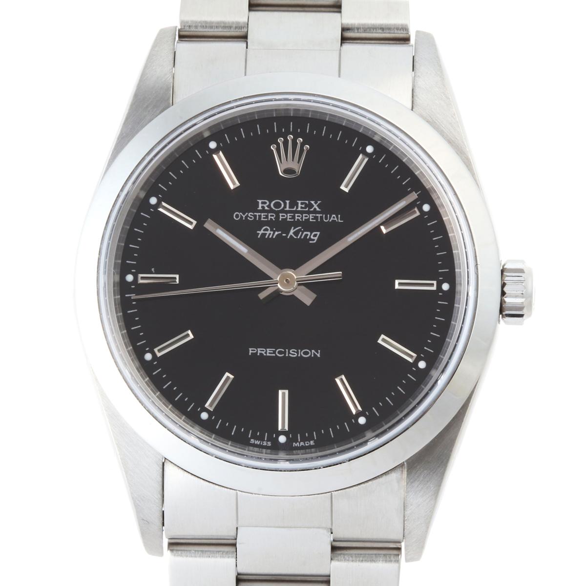 [銀座店] ROLEX ロレックス エアキング 14000M 腕時計 ステンレススチール ブラック文字盤 メンズ DH51124【大黒屋質店出品】 【中古】【店頭受取対応商品】