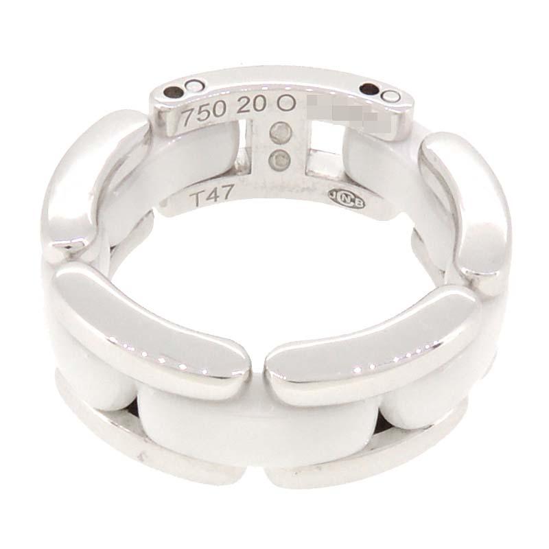 【銀座店】 シャネル ウルトラ ミディアム レディース・メンズ リング・指輪 750ホワイトゴールド 8号 DH53245【大黒屋質店出品】 【中古】【送料無料】【店頭受取対応商品】