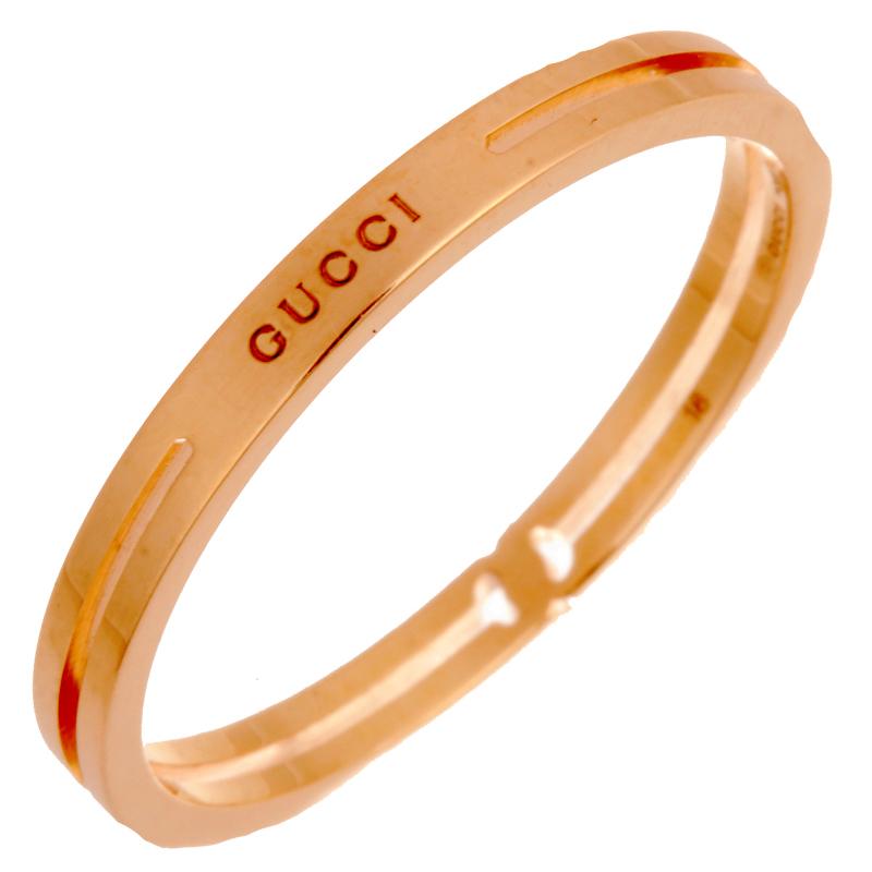 【飯能本店】 グッチ インフィニティ レディース リング・指輪 750ピンクゴールド 18号 ゴールド DH56075【大黒屋質店出品】 【中古】