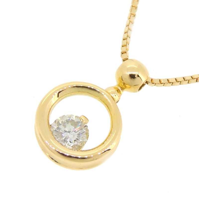 【飯能本店】 ノンブランド K18 ダイヤモンド 0.52ct レディース ネックレス K18ゴールド DH56920【大黒屋質店出品】 【中古】【送料無料】【店頭受取対応商品】