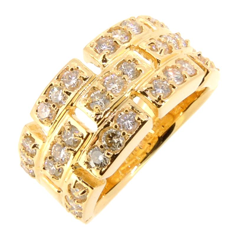 【銀座店】 ノンブランド K18 ダイヤモンド 1.07ct レディース・メンズ リング・指輪 K18ゴールド 15号 DH57053【大黒屋質店出品】 【中古】【送料無料】【店頭受取対応商品】