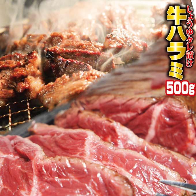 味付牛ハラミ 500g お試し用 冷凍品 500g×1袋 サガリ 05P03Sep16 豪華な 焼肉 BBQ ホルモン 店舗 バーベキュー