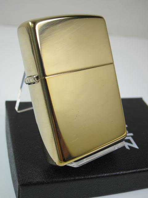 ☆定番 感謝価格 ☆ ジッポーライター: Zippo #254B ハイポリッシュ ブラス プレーン 無地 ロゴなし レギュラー 真鍮無垢 あす楽対応 ゴールド YDKG-tk ジッポー ダルマヤ インナーもゴールド 爆売り 金 《鏡面》 ジッポ ミラー 色
