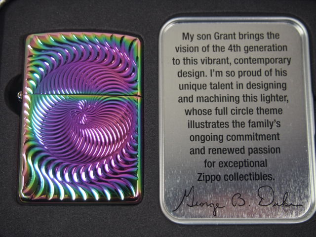 "Zippo lighters: 2015 ""Full Circle"" limited edition Zippo Collectible of the Year / / full circle / / armor spectrum ◆ contouring ◆ message card with spiral ☆ gorgeous! ☆"