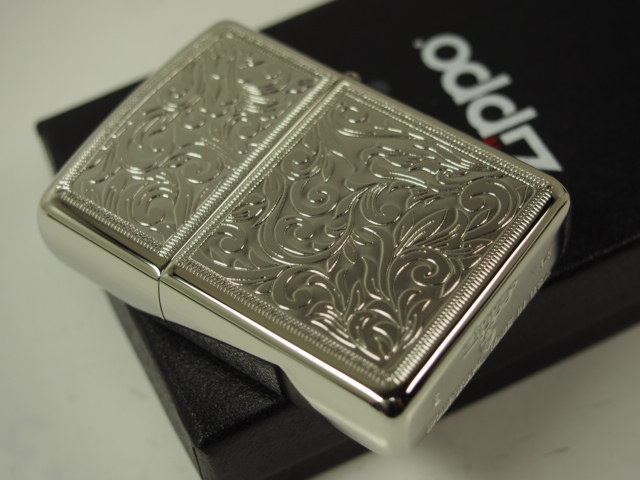 "Zippo lighters: Zippo armor Arabesque Venetian / etching engraving / / 162 PT-KARA ""Arabesque"" Platinum ★ double-sided machining ★ sides same pattern Armor • gorgeous! ◆"