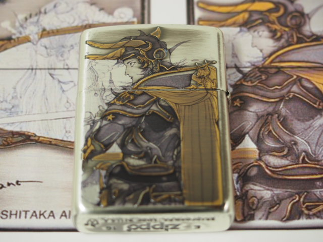 Zippo writer: NEW Zippo Armour Yoshitaka Amano 04_001F Final Fantasy silver smudging out gold heaping up processing << both sides design >> animation art ★ fashion!★
