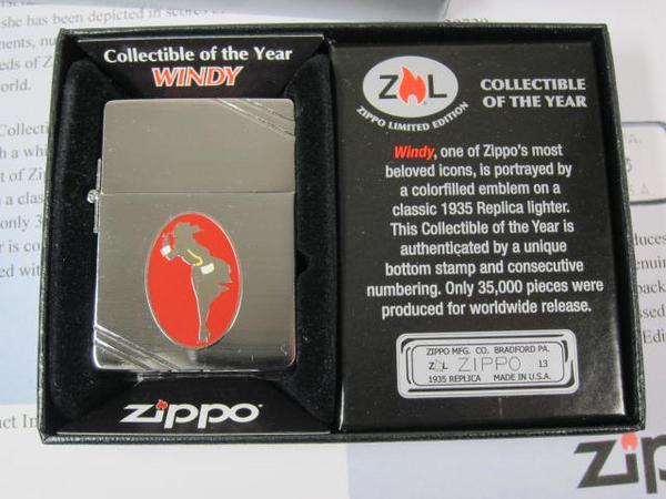ジッポーライター: Zippo 1935 Windy ガール 世界限定品 //ウィンディー メタリケ// 2013 Collectible of The Year ★USA加工★ ♪お洒落♪ 【あす楽対応】 【ジッポ】 【ジッポー】 【限定】 【ライター】 【ダルマヤ】