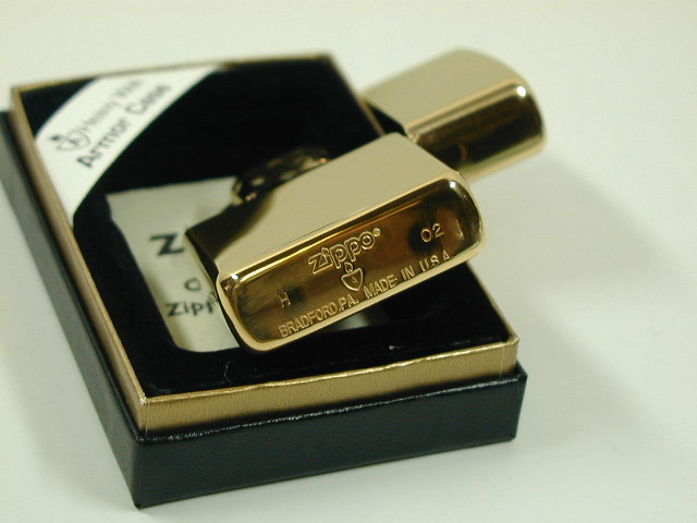 "Zippo 打火机: Zippo 盔甲甲平原 # 169 的黄金 / 黄金""镜""也是内在!!] 平原 ★"