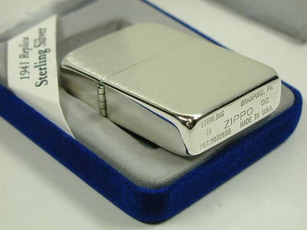 "Zippo lighters: Zippo sterling silver //1941 replica / / # 24 satin ""regular"" plain solid color ☆☆"